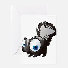 Black squirrel cartoon Greeting Cards