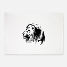 Lion head art 5'x7'Area Rug