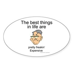 The best things in life Oval Sticker