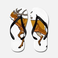 Brown elk wild animal Flip Flops