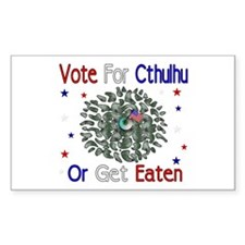 Vote For Cthulhu Rectangle Stickers