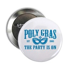 Poly Gras in Blue Pin Button