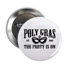 Poly Gras in Black Pin Button