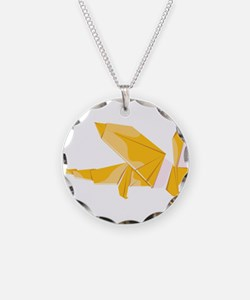 Origami dragon dragonshaped Necklace