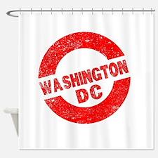 Rubber Ink Stamp Washington DC Shower Curtain