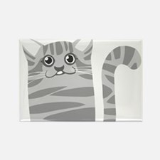 Gray cat face Magnets