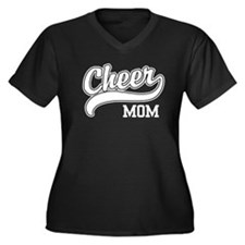 Cheer Mom Women's Plus Size V-Neck Dark T-Shirt