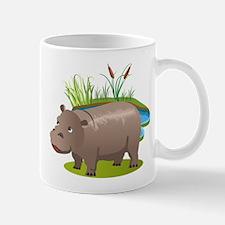 Animal cartoon hippopotamus Mugs
