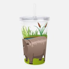 Animal cartoon hippopo Acrylic Double-wall Tumbler