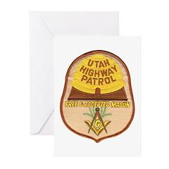 Utah Highway Patrol Mason Greeting Cards (Pk of 10