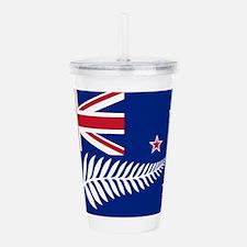 New Zealand Flag With Acrylic Double-wall Tumbler