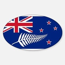 New Zealand Flag With Silver Fern Bumper Stickers