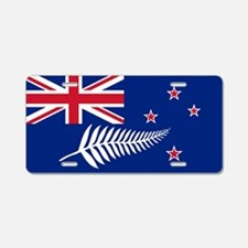 New Zealand Flag With Silve Aluminum License Plate