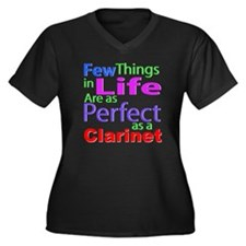 Cute Horn composer Women's Plus Size V-Neck Dark T-Shirt