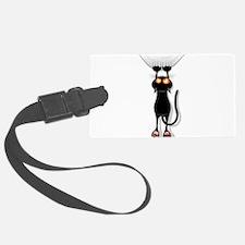 Amusing hanging black cat Luggage Tag