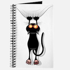 Amusing hanging black cat Journal