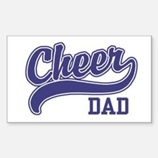 Cheer Dad Rectangle Decal