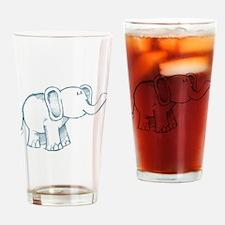 Elephant kid line art Drinking Glass