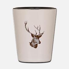 Elk clip art Shot Glass