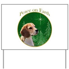 Beagle Peace Yard Sign