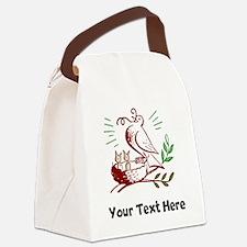 Bird Feeding Chicks (Custom) Canvas Lunch Bag