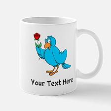 Bird With Rose (Custom) Mugs