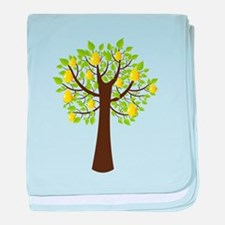 Peach tree with fruits baby blanket
