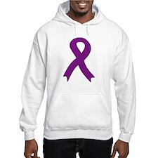 Purple Ribbon Hoodie