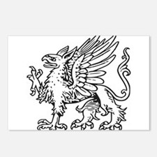Griffin line art Postcards (Package of 8)