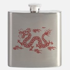 Chinese dragon art Flask