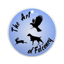 The Art of Falconry-Brittany Ornament (Round)