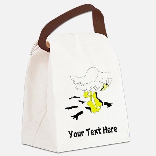 Bird With Oil On Feet (Custom) Canvas Lunch Bag