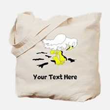 Bird With Oil On Feet (Custom) Tote Bag