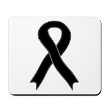 Black Ribbon Mousepad