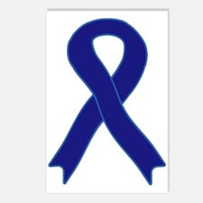 Navy Blue Ribbon Postcards (Package of 8)