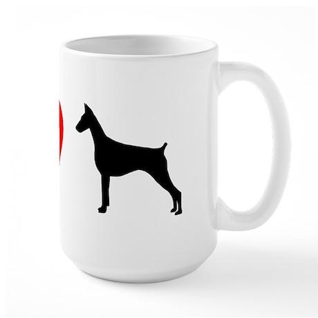 I Heart Doberman Large Mug