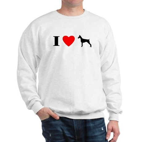 I Heart Doberman Sweatshirt