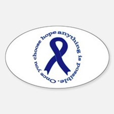 Navy Blue Ribbon Oval Decal
