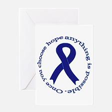Navy Blue Ribbon Greeting Card