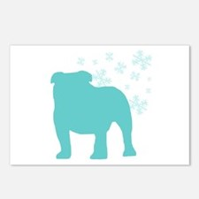 Bulldog Snowflake Postcards (Package of 8)