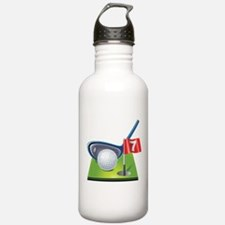 Golf court with club a Water Bottle