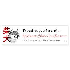 Midwest Shiba Inu Rescue Bumper Car Sticker