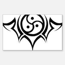 Tribal BDSM Symbol Rectangle Decal