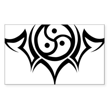 Tribal BDSM Symbol Rectangle Sticker