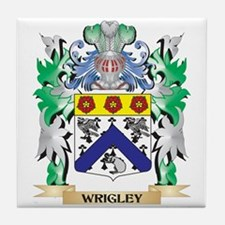 Wrigley Coat of Arms - Family Crest Tile Coaster