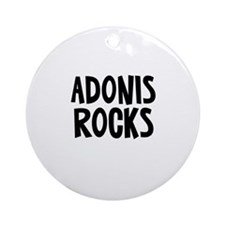 Adonis Rocks Ornament (Round)