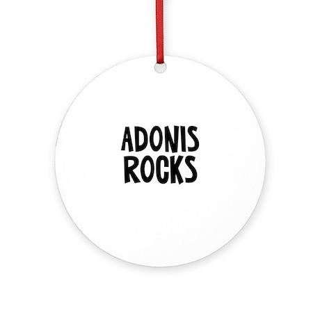 Adonis Rocks Ornament (Round)
