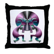 Two Kokopelli #43 Throw Pillow