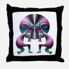 Two Kokopelli #43 Throw Pillow