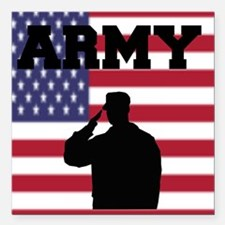 """Army Square Car Magnet 3"""" x 3"""""""